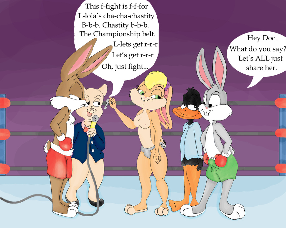 and lola bunny Red hot riding hood