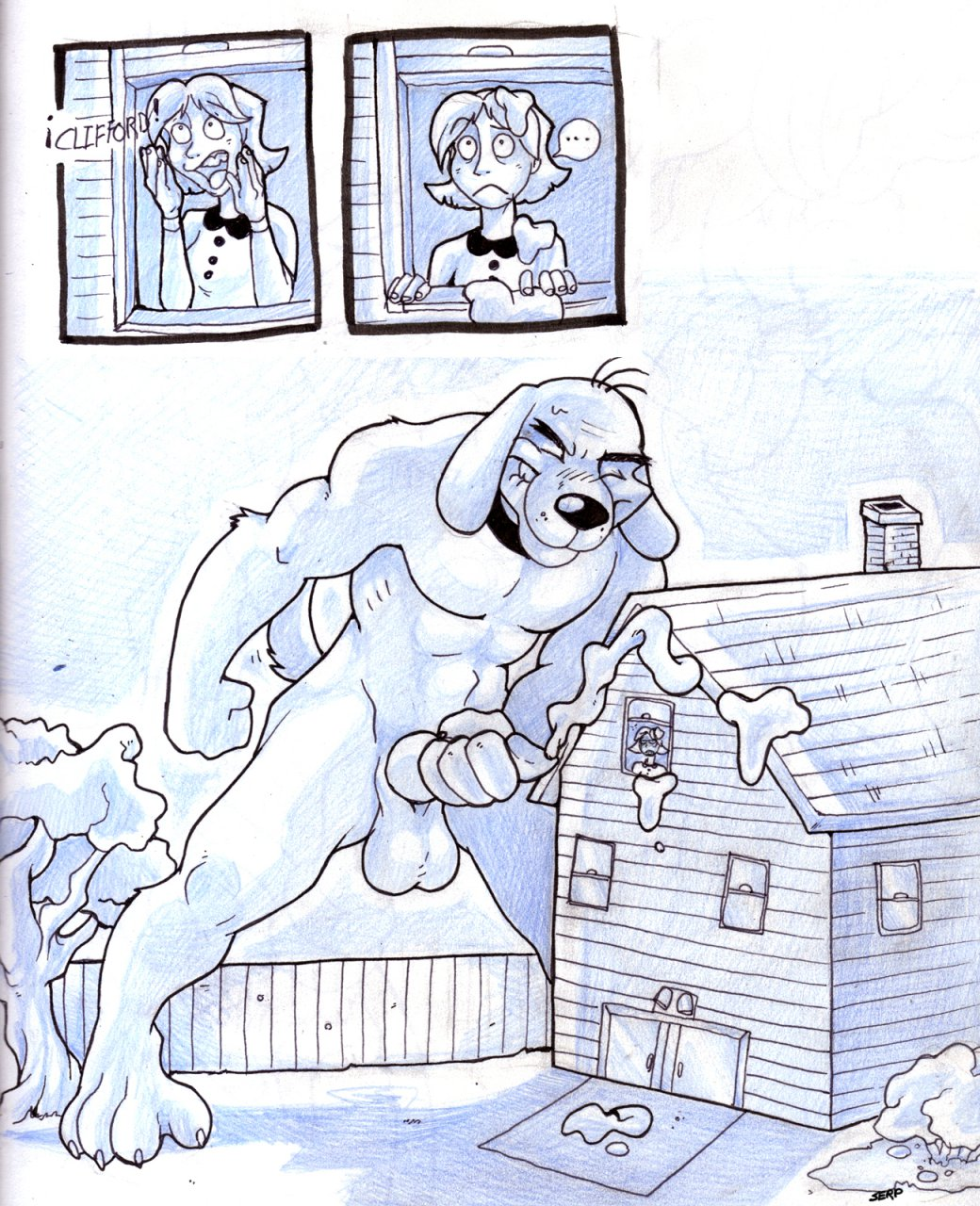 cleo big dog red the clifford Yakata jukujo ~the immoral residence~