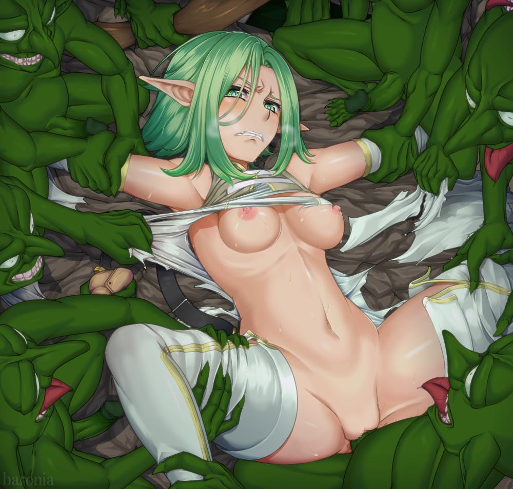 goblin elf high rape archer slayer High school of the dead lesbian