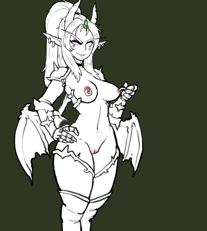 demon hunter night elf female Dragon age inquisition female qunari