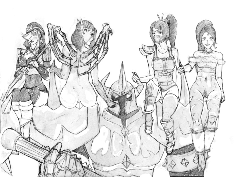 league of legends Baroness von bon bon x cuphead